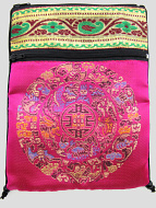 Hot-Pink Shoulder-Bag, decorated with the dragon-mandala motif