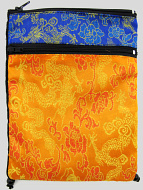 Yellow and Blue Shoulder-Bag, decorated with the dragon-brocade