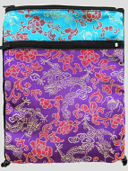 Purple and Turquoise Shoulder-Bag, decorated with the dragon-brocade