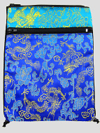 Blue and turquoise shoulder-bag, decorated with the dragon-brocade