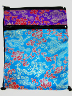 Turquoise and Purple Shoulder-Bag, decorated with the dragon-brocade