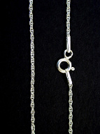 Fine double-link twisted Sterling silver chain from Italy.