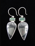 Sterling silver earrings featuring apache gold with tourmaline accent stones