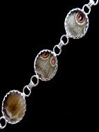 reverse of Blue Shimmerwing link bracelet