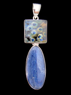 Sterling silver pendant featuring an Kevin O