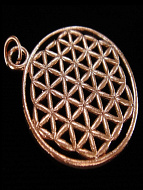 copper pendant with Flower of Life design from Sacred Geometry Traditio