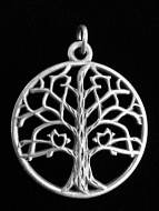 silver-toned brass Tree of Life pendant, a universal symbol for life
