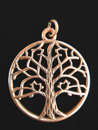 copper Tree of Life pendant, a universal symbol for life