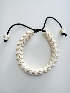 Adjustable Standard Snake Vertebrae Bracelet with natural white finish