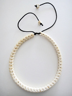 Adjustable Snake Vertebrae Choker with natural white finish