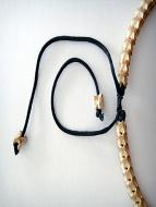 Adjustable Snake Vertebrae Choker with tan stain