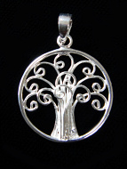 Simple Tree of Life, hand fabricated sterling silver pendant