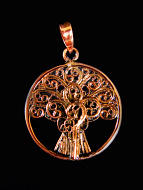 Tree of Life, hand fabricated copper pendant