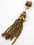 Brass tassel with bail