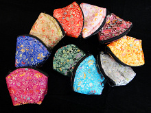 small brocade zipper pouches