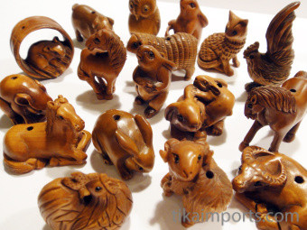 Ojime Barnyard Animals Assortment