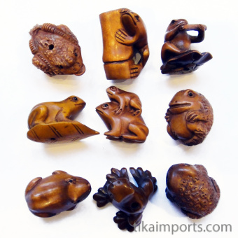 Ojime Frogs Assortment
