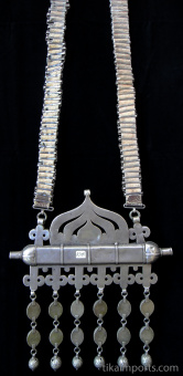 view of back of Antique Turkoman Necklace