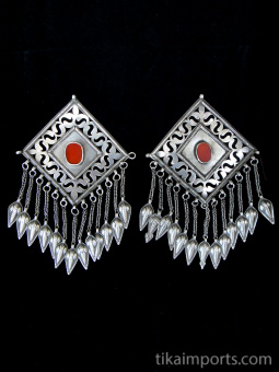 top view of pair of Turkoman Chapan