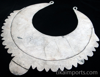 view of the back of Antique Silver Afghani Chestplate