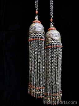 Antique Silver Bucharan Tassles