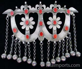 Antique Afghani Silver Ornament