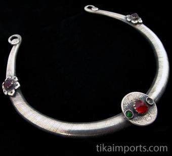 closeup of Silver Afghani Torque