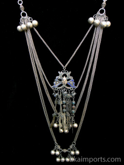 full view of Chinese Hilltribe Wedding Necklace