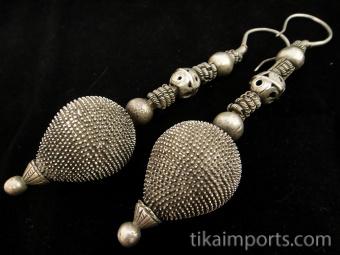 Antique Afghani Silver Earrings