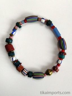 Small African Trade Bead Bracelet
