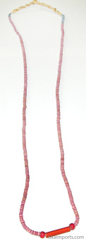 dusty pink african trade bead necklace