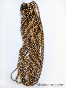 Contemporary Traditional Brass Bicone Beads, hand made in Nigeria, Africa.