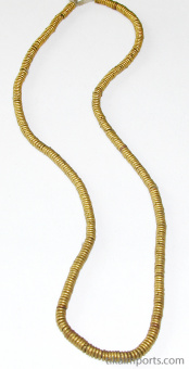 full strand of Contemporary Traditional African Brass Heishi beads.