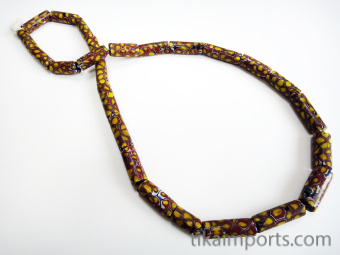 One of a kind strand of African Trade Beads- glass beads made in Venice, Italy then traded in to Africa and around the world during the 1900's and earlier