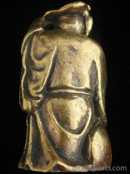 Hotai Buddha, showing back of statuette