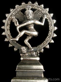 Dancing Natraj brass deity statue, the lord of the dance