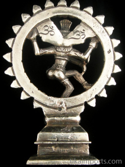 back of Dancing Natraj brass deity statue, the lord of the dance