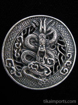 Dragon brass pendant, a traditional symbol of strength and power.