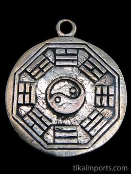 back view of Tibetan Buddha brass deity pendant