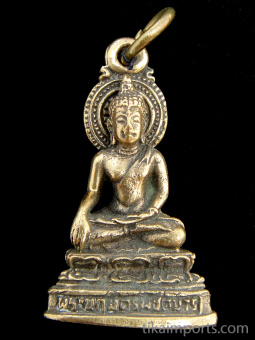 Buddha brass deity pendant, the sage on whose teachings Buddhism was founded