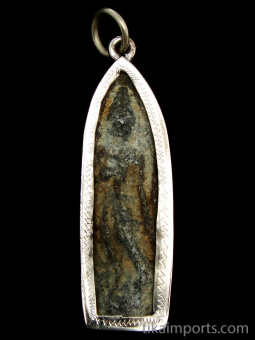 standing Buddha brass deity pendant, the sage on whose teachings Buddhism was founded