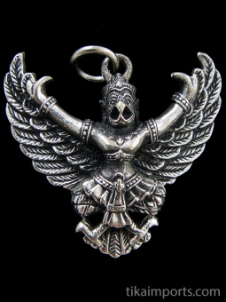 Garuda brass deity pendant, the king of birds