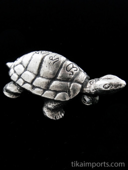 Turtle brass deity pendant, a symbol of good health and long life