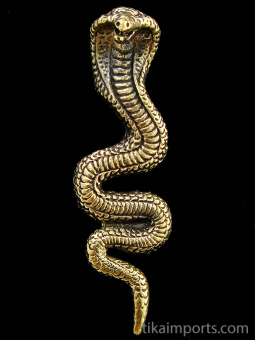 Snake (cobra) brass pendant, one of the oldest and most widespread mythological symbols