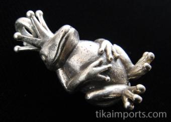 King Froggie brass pendant, our favorite little fellow