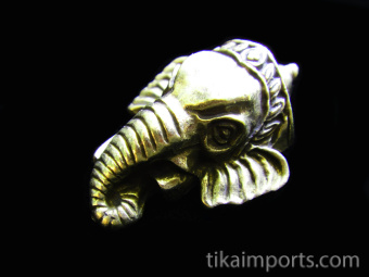 Ganesh Head brass deity pendant, the remover of obstacles