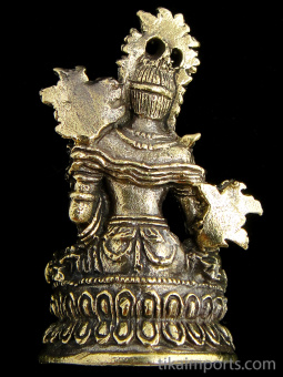 back of Green Tara brass deity statue, the Mother of all Buddhas