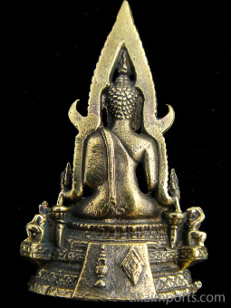Chinraj Buddha, showing back of statuette
