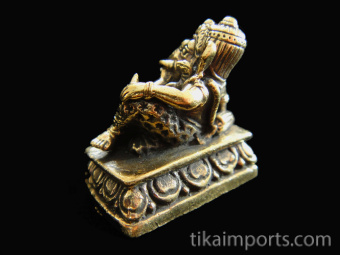 back of reclining Ganesh brass deity statue, the remover of obstacle