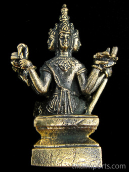Brahma, the Hindu god of creation. showing back of statuette